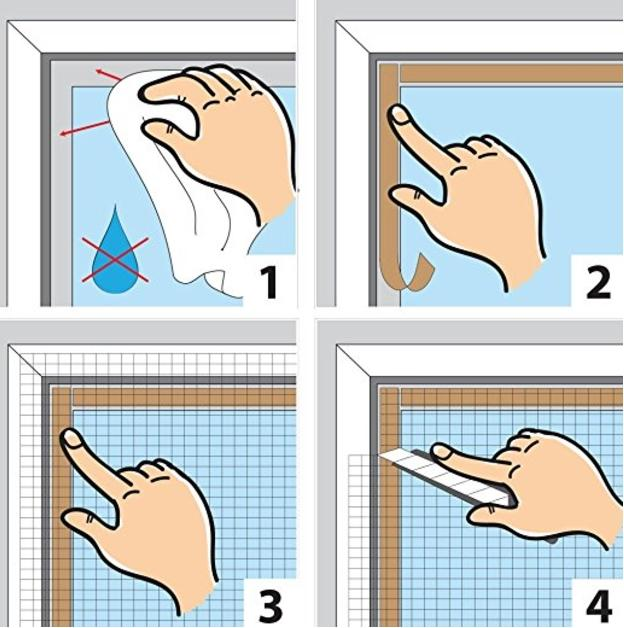 Come installare la zanzariera adesiva - Montare una finestra ...